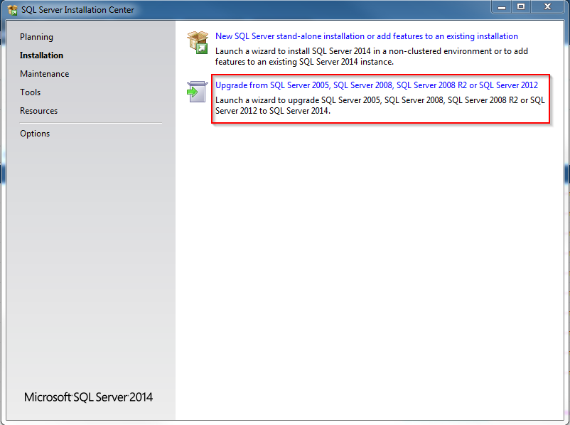 Upgrading from SQL Server 2008 R2 to SQL Server 2014